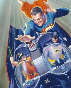 TV series Batman & Supernan painting by Alex Ross