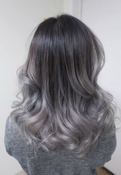 Silvery ombre waves