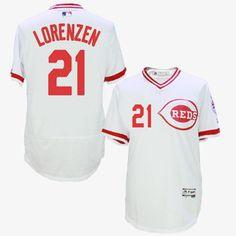 563084aa7 Mens Authentic Home White Cincinnati Reds Pete Rose Jersey Flex Base MLB  Majestic