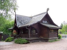 Scandinavian Architecture, Wooden Architecture, Shed Design, House Design, Skyrim House, Norwegian House, Norway Landscape, Viking House, Vertical Window Blinds