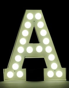 Seletti Vegaz Metal Letter with Led Bulbs by Neon Lamp, Marquee Sign, Metal Letters, Sign Letters, Neon Lighting, Light Decorations, All Modern, Rum, Modern Furniture