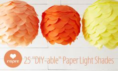 25 DIY-able Paper Light Shades