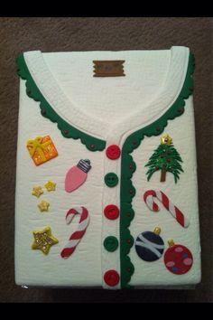 Christmas jumper cake design