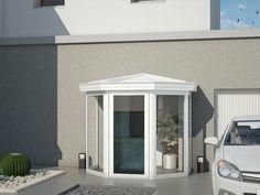 Sas d'entrée Vésuvia - vivonsdehors.com Sas Entree, Porches, Glass Porch, Side Porch, Front Porch, Garden Room Extensions, Door Canopy, Front Entrances, Patio Doors