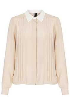 Long Sleeve Silk Pleat Shirt - Tops  - Clothing