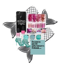 """""""Mermaid Tails and NAILS!!!"""" by mabel-lynne on Polyvore featuring beauty, PBteen, Casetify and Sergio Rossi"""