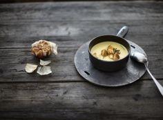 Podzim podle Dity P. Ham, Panna Cotta, Tea Cups, Vegan Recipes, Tableware, Ethnic Recipes, Kitchen, Soups, Per Diem