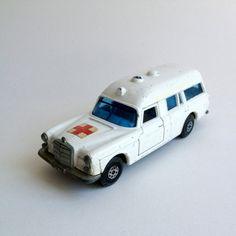 Vintage Matchbox ambulance toy metal car by vintagecuriosityshop
