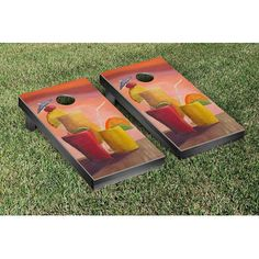 Victory Tailgate Specialty Design Cornhole Game Set Color: Cocktails