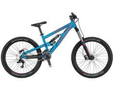 SCOTT - Voltage FR 30 for Freeride ~ Frame: Voltage FR alloy 6061 Fork: Rock Shox Domain R coil, Coil oil, Reb adjustable Maxle, travel Shock: Marzocchi Coil R, Rebound adjustable Group set: SRAM / Truvativ crankset Brakes: Avid Elixir 1 white Scott Voltage, Freeride Mtb, Full Suspension Mountain Bike, Scott Sports, Bicycle Shop, Bikes For Sale, Bicycle Components, Bike Run, Bicycle Design