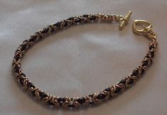 """Siobhan Keogh from Vovs Jewellelry shares with us her tutorial for making chainmaille bracelets. """"this is a well explained tutorial on how to make chainmaille bracele… Diy Jewelry Rings, Metal Jewelry, Jewellery, Jewelry Crafts, Jewelry Ideas, Handmade Jewelry, Star Pendant, Bracelet Making, Jewelry Making"""