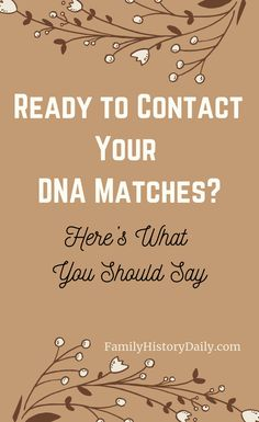 How to contact cousin matches and what should you say