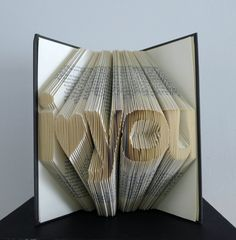 Unique Boyfriend / Girlfriend Gift - Paper Anniversary - Folded Book Sculpture - Wedding Present - Altered Book