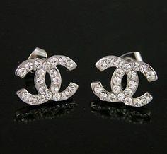 Chanel Earrings Double C Design