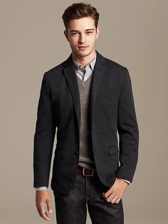 Heritage Houndstooth Knit Blazer Product Image