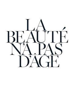La beauté n'a pas d'âge