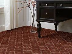 Marsala inspired patterned carpet