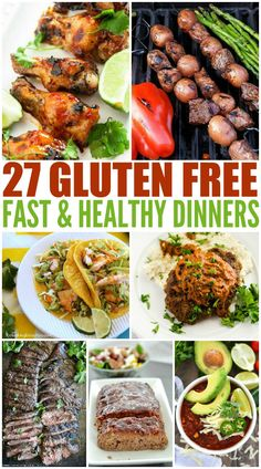 Gluten free meals 24488391706947436 - These Fast & Healthy Gluten Free Dinners will take the stress out of dinnertime. These easy recipes will inspire you to get in the kitchen. Source by wendypolisi Gluten Free Meal Plan, Gluten Free Recipes For Dinner, Free Meal Plans, Healthy Gluten Free Recipes, Dinner Recipes, Gluten Free Dinners Easy, Gluten Free Lunches, Gluten Free Lunch Ideas, Gluten Free Fast Food