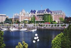 Victoria, BC, Canada ~ Victoria's Inner Harbour with the world-famous Fairmont Empress Hotel in the background