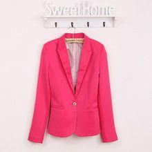 2016 blazer mujeres traje chaqueta marca foldable chaqueta hecha of algodón  y spandex con forro Vogue 2238cdd81d87