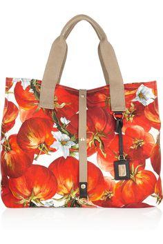 Dolce   Gabbana - Tomato-print cotton-canvas tote 45269a830ffcc