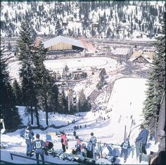 Ski Jump at the 1960 Winter Games hosted at Squaw Valley, Lake Tahoe
