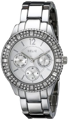 Relic by Fossil Women's Sophia Analog Display Analog Quartz Silver Watch Relic Watches, Chronograph, Fossil, Rolex, Quartz, Accessories, Image Link, Wrist Watches, Gift Ideas