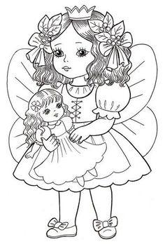 Angel Princess Coloring Page Princess Coloring Pages, Coloring Pages For Girls, Cute Coloring Pages, Christmas Coloring Pages, Animal Coloring Pages, Coloring Pages To Print, Coloring For Kids, Adult Coloring, Art Drawings For Kids