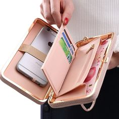 Buy iPhone 7 6 6s Plus 5s Samsung Galaxy S7 Edge S6 J5 Xiaomi Mi5 Redmi Note 3 4 Women Wallet Universal Phone Bag Leather Case now. Free Shipping Delivery to USA, Canada, Europe, UK, Germany, Russia, Asia, Australia,New Zealand, Singapore, Japan, Korea, Taiwan and many other countries worldwide Type: Universal cell phone Bag …