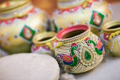 Best site to plan a modern Indian wedding, WedMeGood covers real weddings… Kalash Decoration, Gauri Decoration, Coconut Decoration, Wedding Gift Wrapping, Telugu Wedding, Marriage Decoration, Wedding Rituals, Indian Wedding Decorations, Wedding Crafts