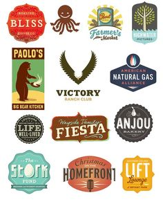 "These vintage-style logos are all impressive, but the one that jumped out to me was ""Paolo's Big Bear Kitchen."""