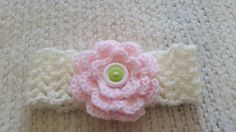 Crochet Baby's Head Band White headband Head by CrochetbyKathie