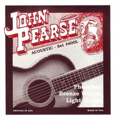 Some really great guitar gear! John Pearse 600L ... check it out @ http://guitarisms.com/products/john-pearse-600l-phosphor-bronze-acoustic-guitar-strings?utm_campaign=social_autopilot&utm_source=pin&utm_medium=pin