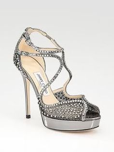 Jimmy Choo Crystal Mesh Sandals