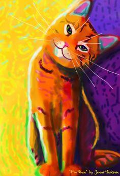 Orange cat. Love this - KittyCommotion.com