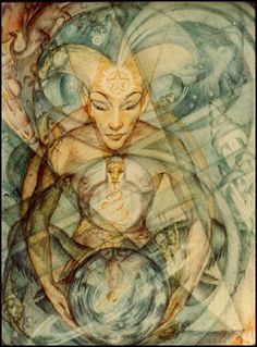 "Rosaleen Norton's ""The Blueprint"" (Plate 5 - Supplement to The Art of Rosaleen Norton  )"