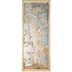 Silverleaf and Gold Chinoiserie Wall Panel 1