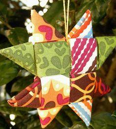 Estrela de Natal em tecido passo a passo