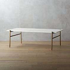 slab marble coffee table with brass base