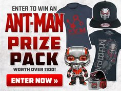 Still giving away a $100 value for just a couple clicks: Ant-Man Prize Pack!