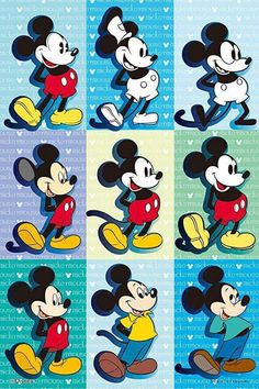 Mickey Mouse through the years Arte Do Mickey Mouse, Mickey Mouse And Friends, Disney Micky Maus, Disney Mouse, Mickey Mouse Wallpaper, Disney Phone Wallpaper, Mickey Mouse Pictures, Disney Pictures, Disney Fanatic