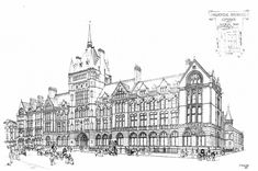 Prudential Assurance Building High Holborn London By Alfred Waterhouse 1879 Architect DrawingArchitects