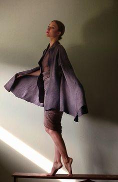 nuno felt cloak by vilte. natural dyes