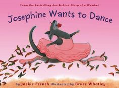Josephine Wants to Dance by Jackie French, illustrated by Bruce Whatley. No kangaroo, and I mean it, dances better than this one. Toddler Books, Childrens Books, Dance Books, Earth Book, Author Studies, Book People, Animal Books, Reading Levels, Kids Boxing
