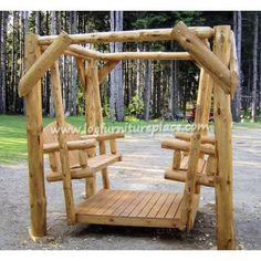 Cedar Lake Double Facing Log Swing