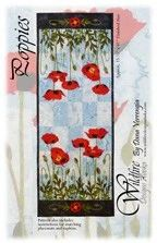 Wildfire Designs Alaska Poppies Table Runner Applique Quilt Pattern – Beaverhead Treasures LLC Table Runner And Placemats, Table Runners, Alaska, Applique Quilt Patterns, Poppy Pattern, Wedding Ring Quilt, Quilted Wall Hangings, Table Flowers, Machine Quilting