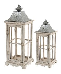 Look at this Rustic Wood Lantern Set on #zulily today!