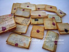 looking glass miniatures: 1/12 Scale 17th & 18th Century Folded Letter Collection