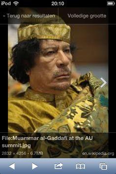 Kadafi was een dictatoor. De mensen konden niks tegen hem doen. Ook dit is een vorm van machtsmisbruik