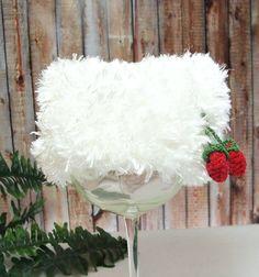 Newborn Baby Girl Beanie Frosty White Fur Look by dreamfancies